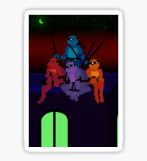 Teenage Mutant Synesthete Turtles Sticker