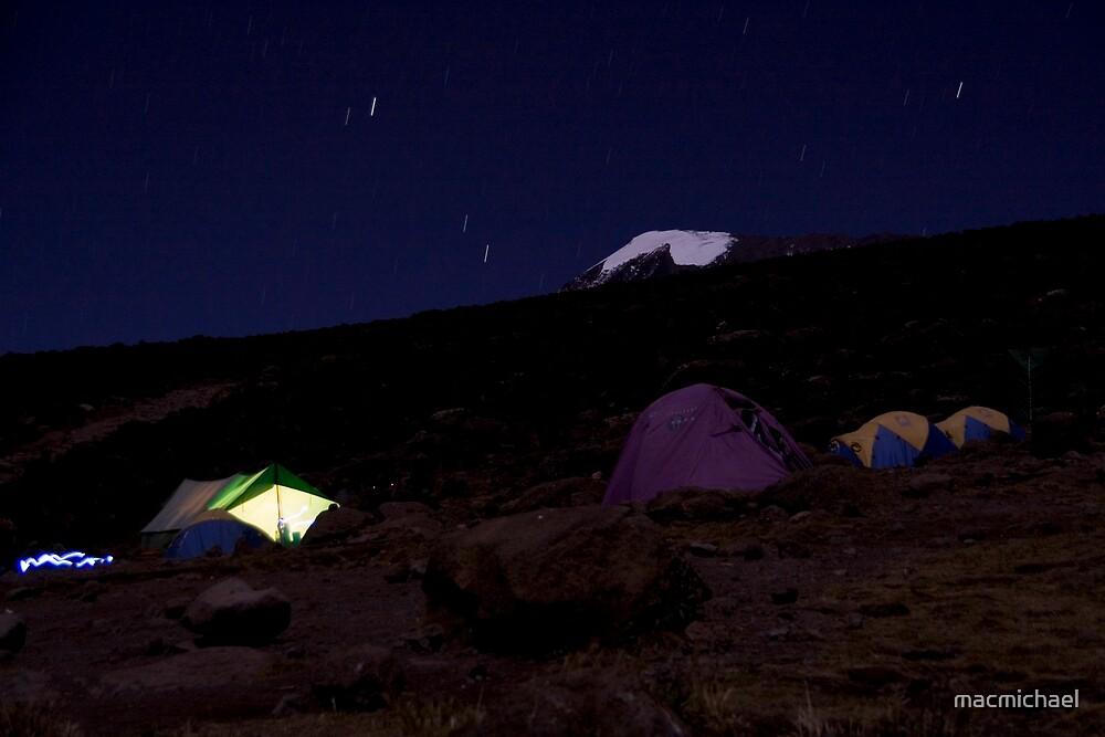 Kilimanjaro at night by macmichael