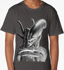 Xenomorph Black and White Long T-Shirt
