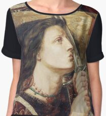 Joan Of Arc Kissing The Sword Of Deliverance Chiffon Top