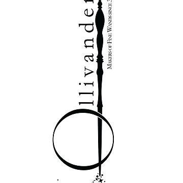 Ollivanders Logo in White by adamgamm