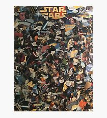 Star Wars collage  Photographic Print