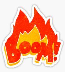 retro cartoon boom Sticker