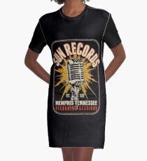 Sun Record Graphic T-Shirt Dress