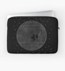 Warlord and green alien bike ride Laptop Sleeve