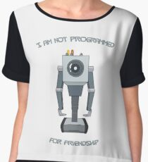Rick and Morty – I Am Not Programmed for Friendship Chiffon Top