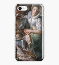 Joachim Wtewael - A Kitchenmaid, In The Background Jesus In The House Of Mary And Martha iPhone Case/Skin