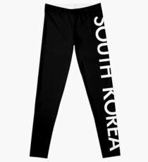 SOUTH KOREA TEXT WHITE Leggings