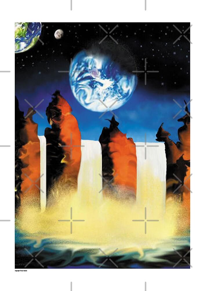 Three falls  by Trevor  Herbert