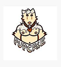 Pupcake! Birthday Cake - Logo Photographic Print