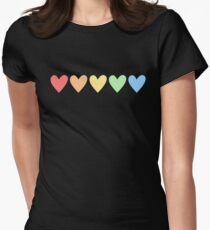 GAY PRIDE RAINBOW HEART Womens Fitted T-Shirt