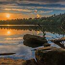 Sunset at Bolam Lake by David Patterson
