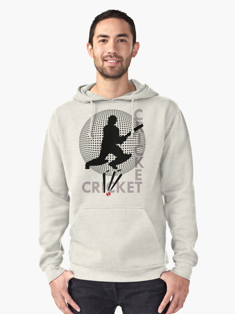 I LOVE CRICKET T-SHIRT Pullover Hoodie Front