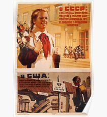 USSR CCCP Cold War Soviet Union Propaganda Posters Poster