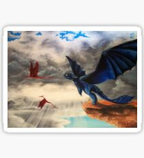 """""""Take Off""""; HTTYD, Toothless Acryl  Sticker"""
