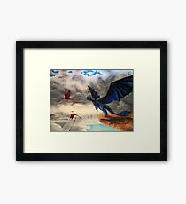 """""""Take Off""""; HTTYD, Toothless Acryl  Framed Print"""