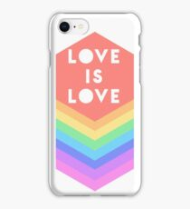 LOVE IS LOVE GAY PRIDE RAINBOW iPhone Case/Skin
