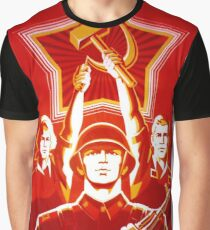 USSR CCCP Cold War Soviet Union Propaganda Posters Graphic T-Shirt