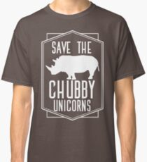 Save The Chubby Unicorns T-Shirt Funny Unicorn Shirt Classic T-Shirt