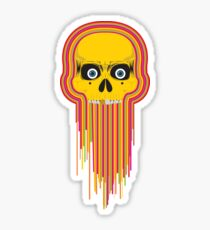 The Incredible Melting Skull Sticker