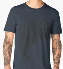 woman face ink sketched graphic Men's Premium T-Shirt