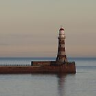Roker Pier Lighthouse at dusk by Tony Blakie