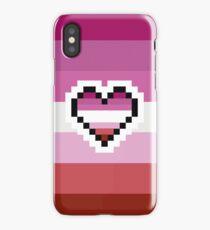 Lesbian Pride Pixel Heart iPhone Case/Skin