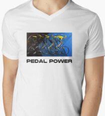 Pedal Power Mens V-Neck T-Shirt