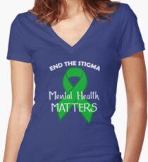 Mental Health Matters Design Women's Fitted V-Neck T-Shirt