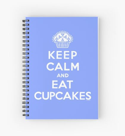 Keep Calm and Eat Cupcakes - white type Spiral Notebook