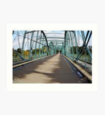 South Washington Bridge Fisheye Landscape Art Print