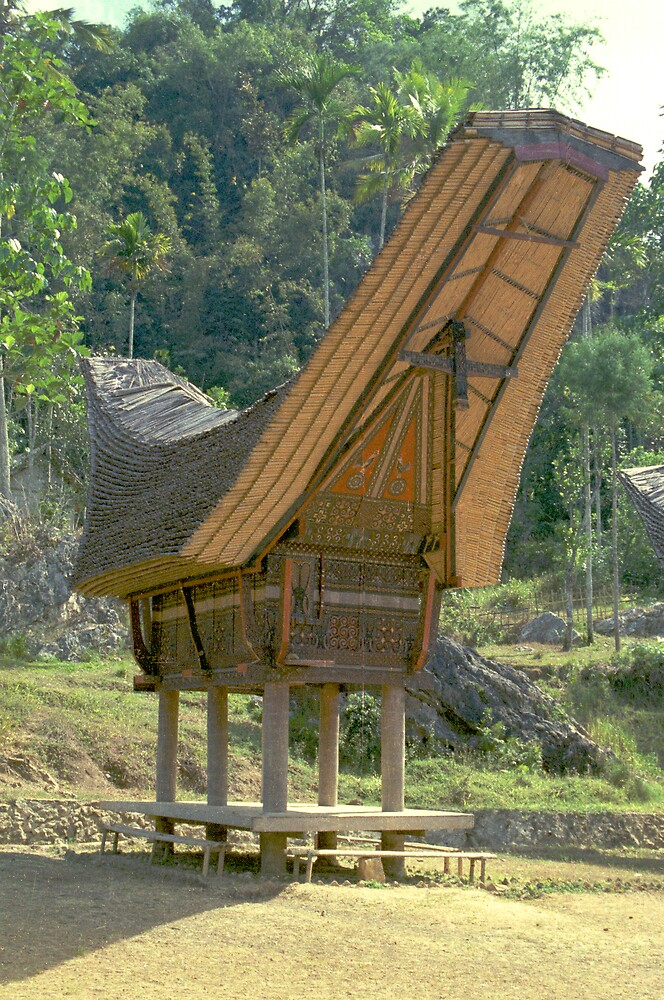 Indonesian architecture: Toraja house, Sulawesi by jensNP