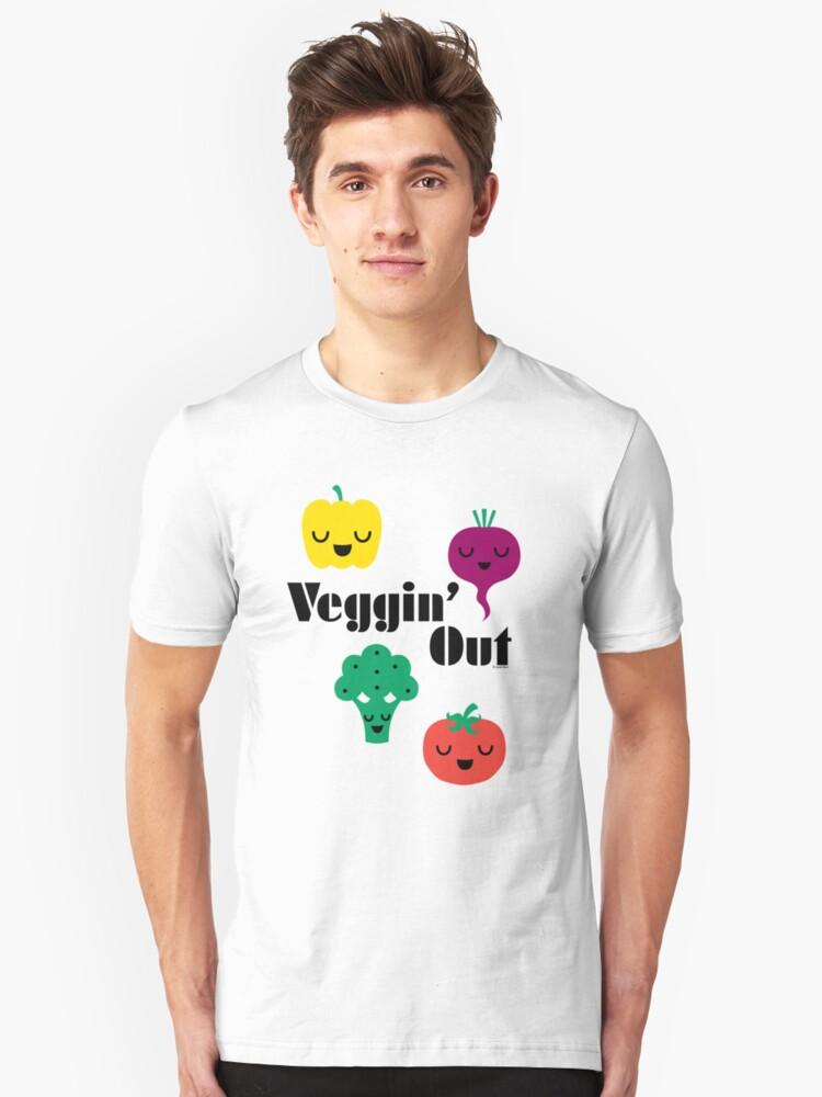 veggin' Out (black type)  Unisex T-Shirt Front