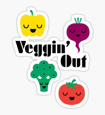 veggin' Out (black type)  Sticker