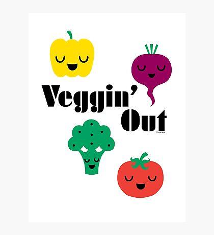 veggin' Out (black type)  Photographic Print