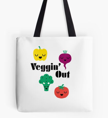 veggin' Out (black type)  Tote Bag