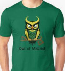 Owl of Mischief Unisex T-Shirt