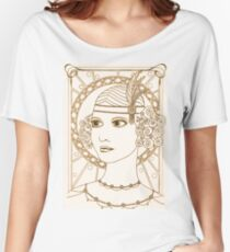 Vintage 1920s Flapper Girl - Sepia Women's Relaxed Fit T-Shirt