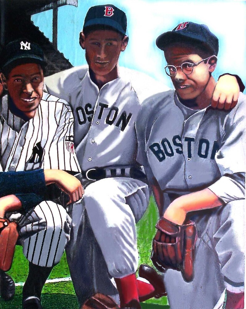 Dimaggio brothers and Ted Williams by Richard  Williams