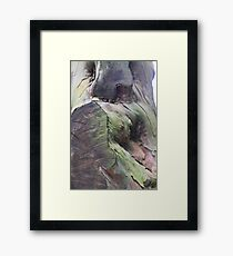 Abstract : Who can it be ? A sphynx ? A Soldier? Framed Print