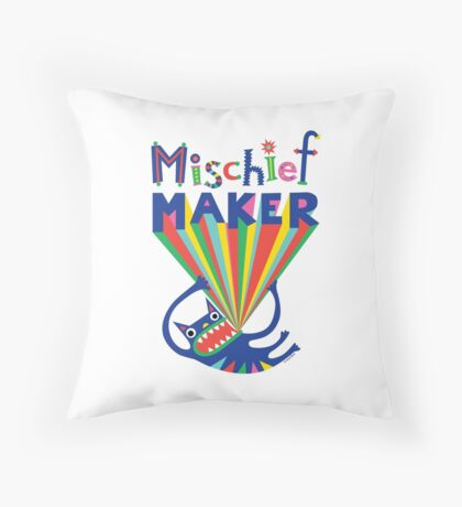 Mischief Maker Throw Pillow