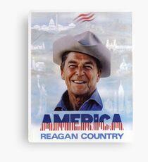 Amerika Reagan Country - Vintage 1980er Jahre Kampagne Poster Leinwanddruck