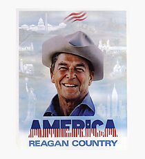 America Reagan Country - Vintage 1980s Campaign Poster Photographic Print