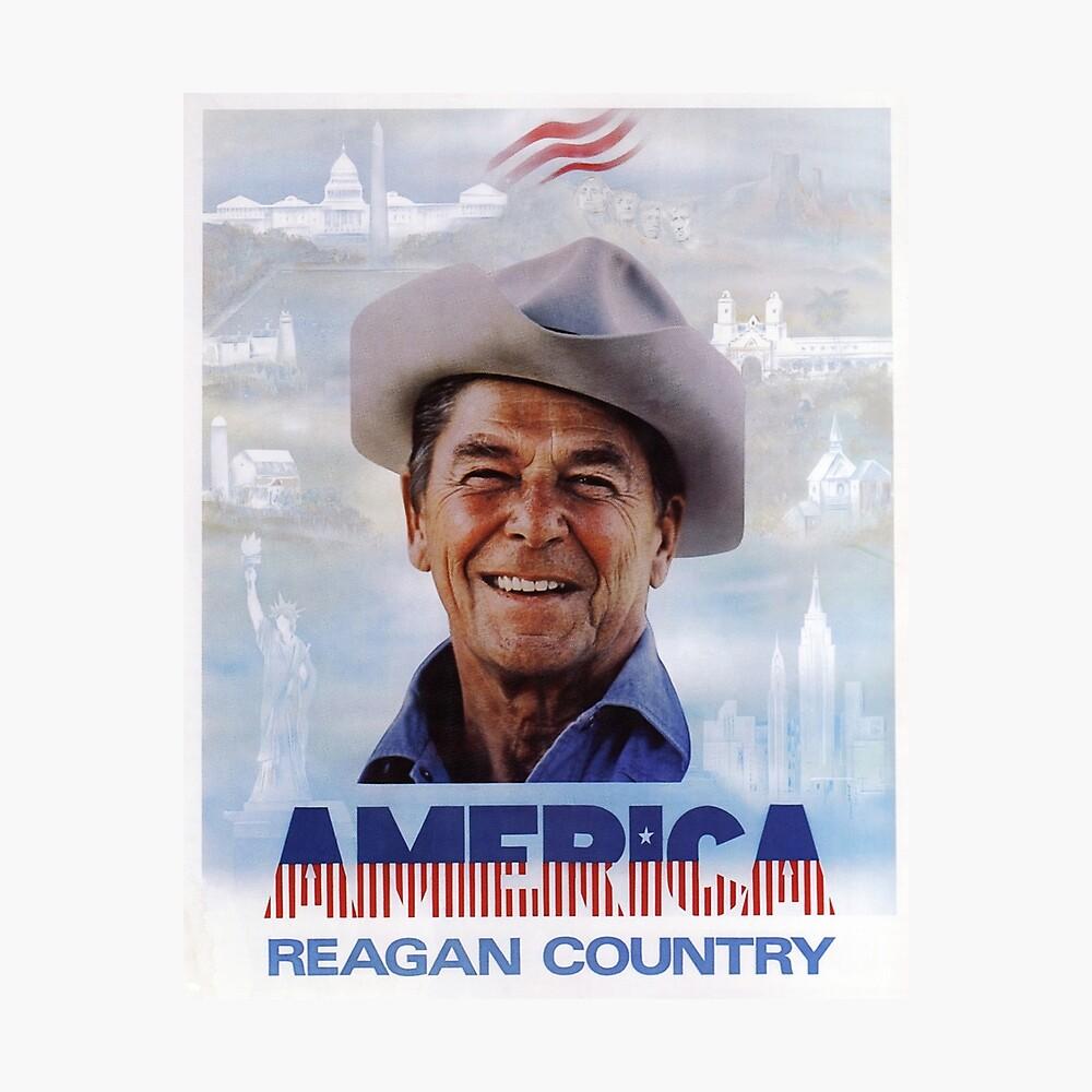País de América Reagan - cartel de la campaña de la década de 1980 de la vendimia Lámina fotográfica