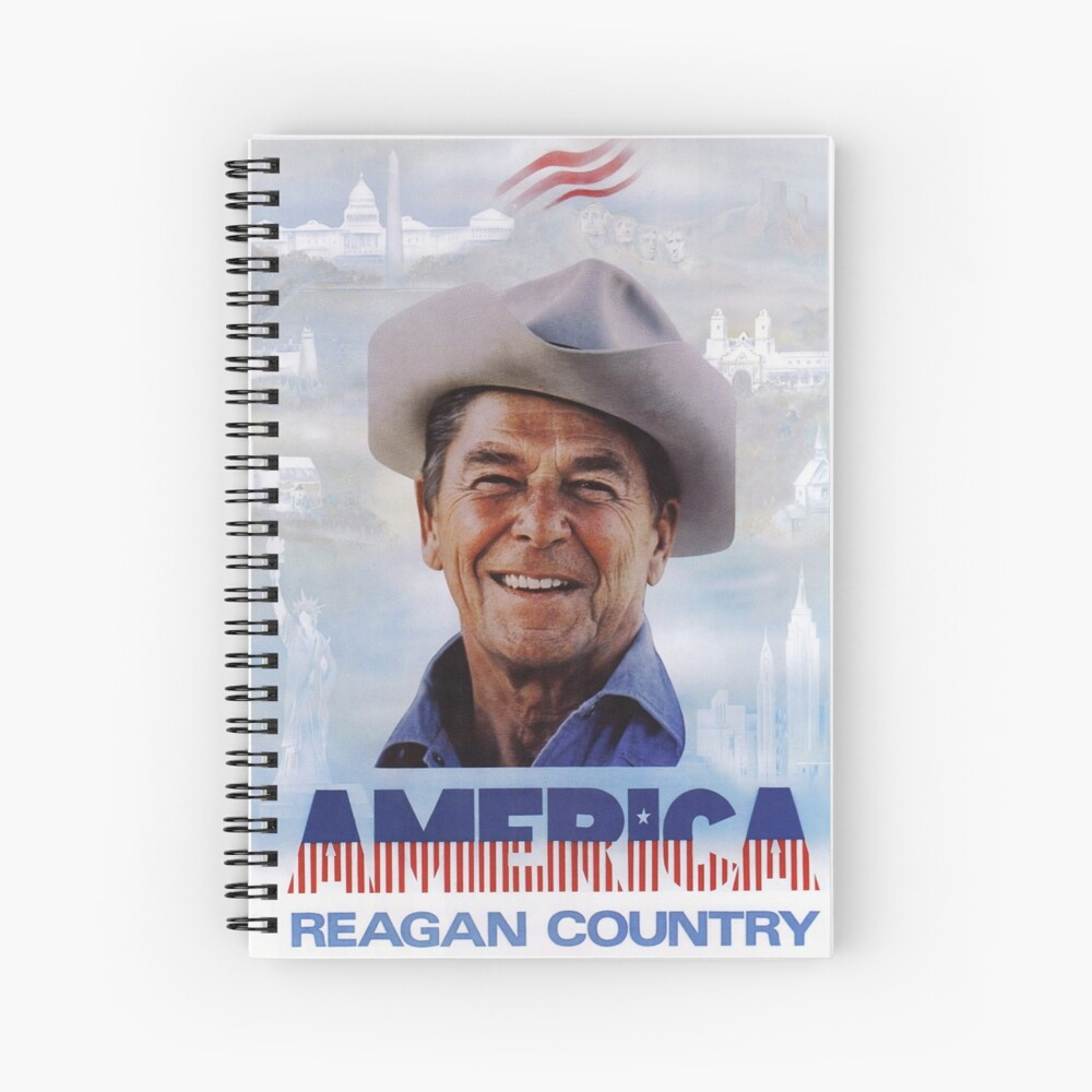 America Reagan Country - Vintage 1980s Campaign Poster Spiral Notebook