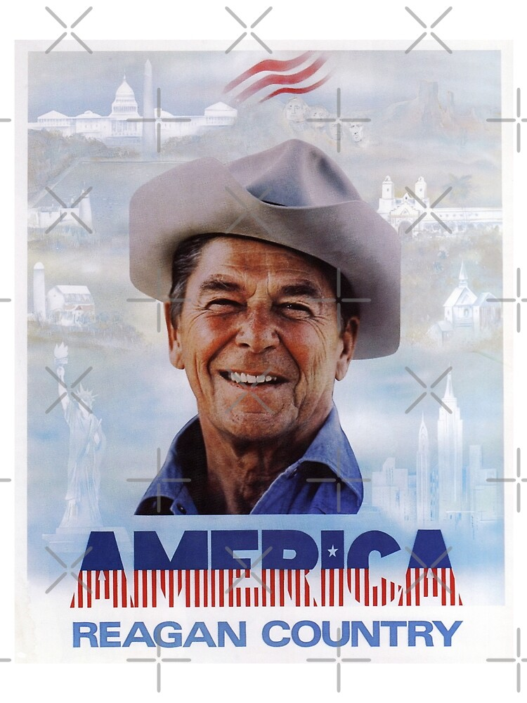 America Reagan Country - Vintage 1980s Campaign Poster by Jeffest