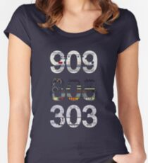 Roland 909 808 303 Classic Synth & Drum Machine Women's Fitted Scoop T-Shirt