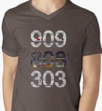 Roland 909 808 303 Classic Synth & Drum Machine Men's V-Neck T-Shirt