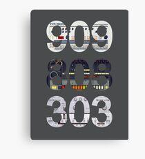 Roland 909 808 303 Classic Synth & Drum Machine Canvas Print
