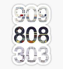 Roland 909 808 303 Classic Synth & Drum Machine Sticker